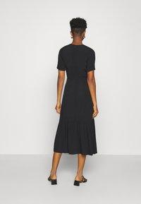 Glamorous - VNECK SHORT SLEEVE MIDI DRESS - Day dress - black - 2