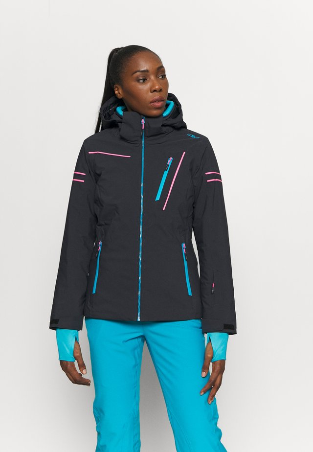 WOMAN JACKET ZIP HOOD - Ski jas - antracite