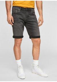 s.Oliver - Denim shorts - dark grey - 6