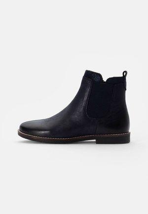 LEATHER - Støvletter - dark blue