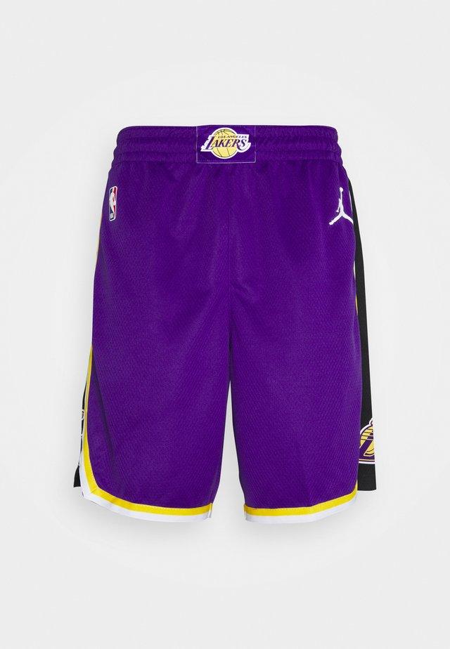 NBA LA LAKERS SWINGMAN SHORT - Article de supporter - field purple/white