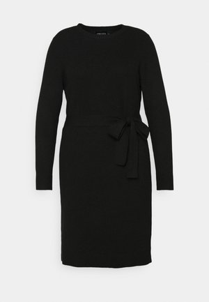 PCCAVA O-NECK DRESS - Jumper dress - black