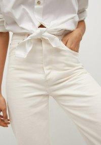 Mango - GABRIELA - Straight leg jeans - ecru - 5