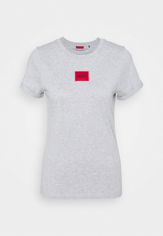 THE SLIM TEE - T-shirt z nadrukiem - grey melange