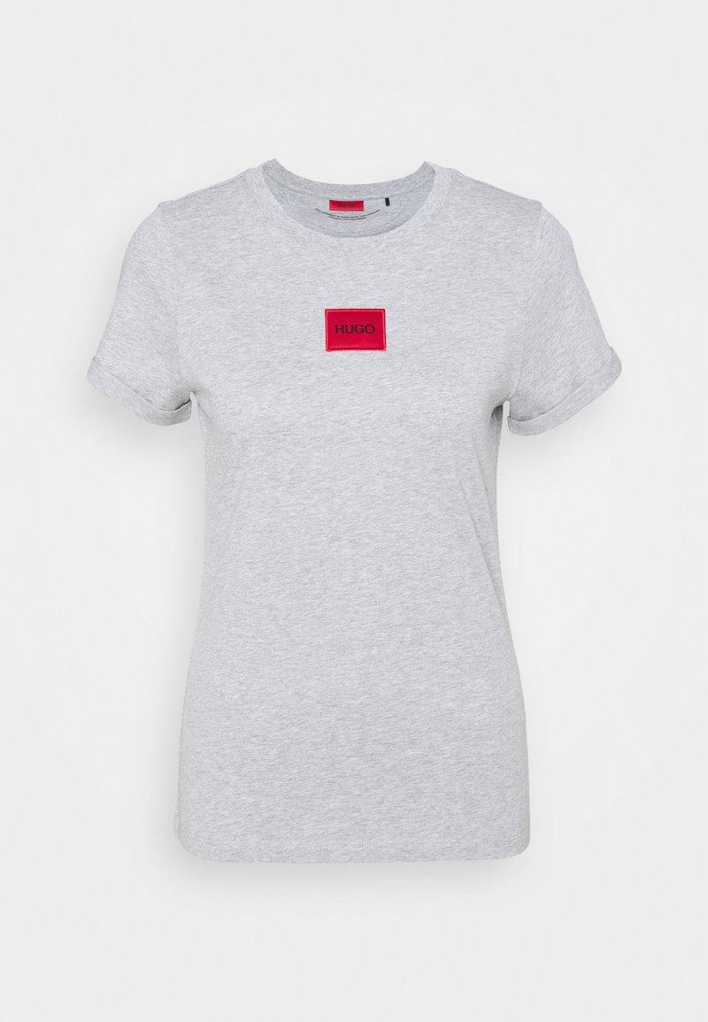 HUGO - THE SLIM TEE - T-shirt z nadrukiem - grey melange