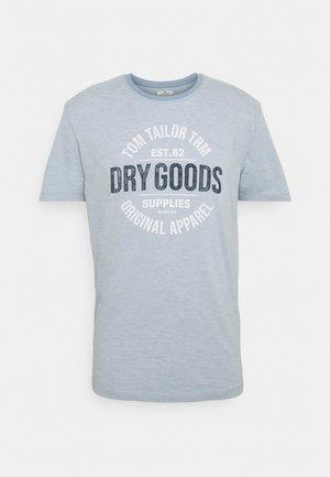 FINESTRIPED - Print T-shirt - lightblue/white