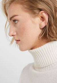 DKNY - STACKED PAVE LOGO STUD - Earrings - crystal/gold-coloured - 1