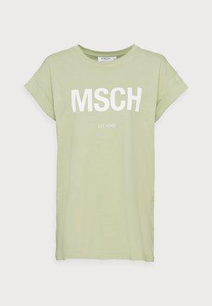 ALVA SEASONAL TEE - T-shirt basic - reseda/white