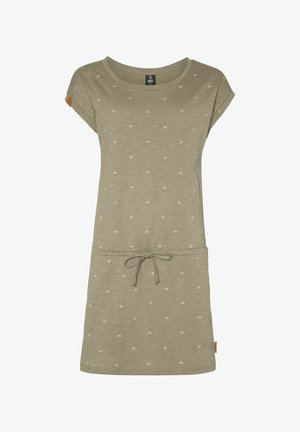 COCONUT - Robe en jersey - olive