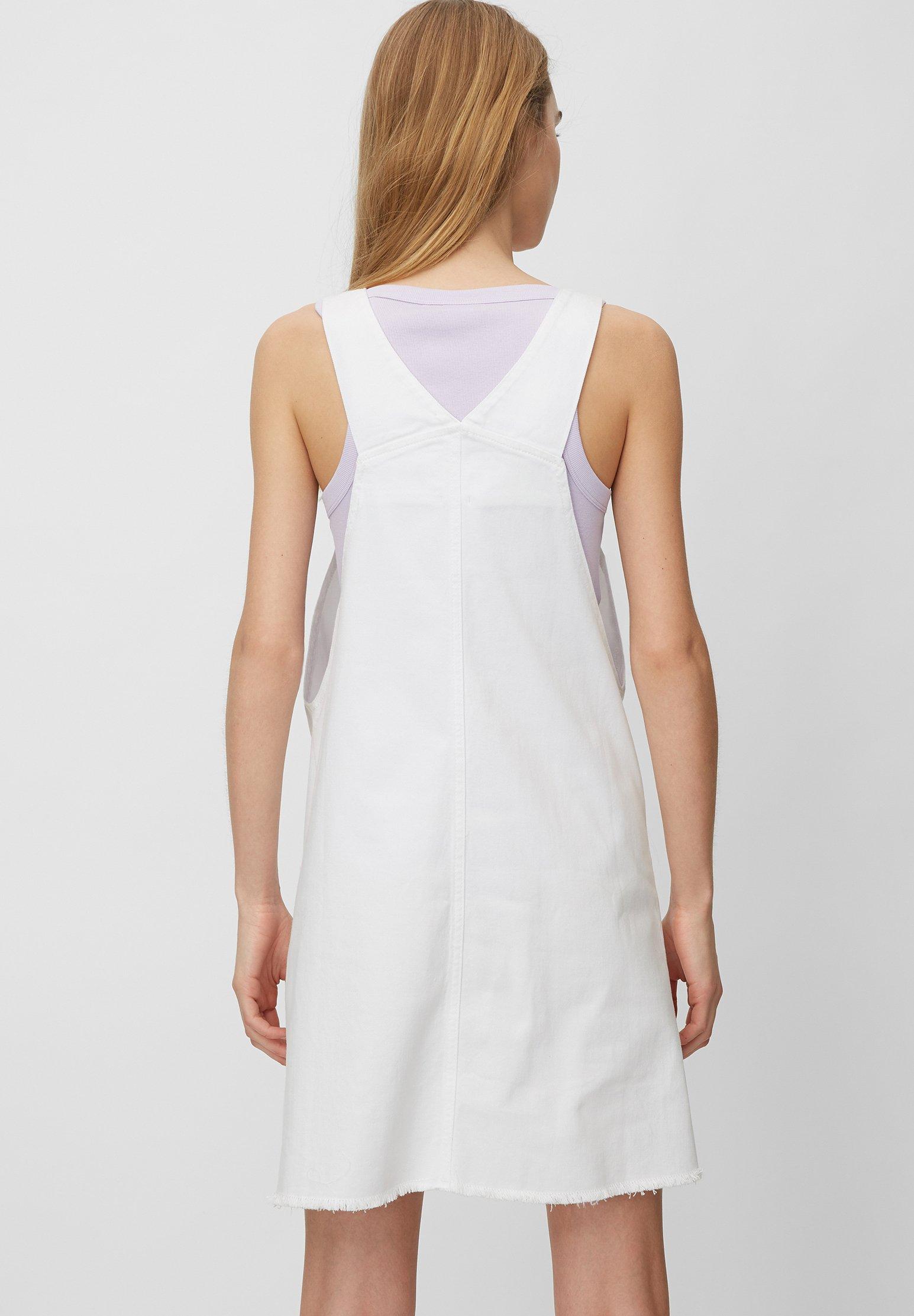 Marc O'Polo DENIM AUS ELASTISCHEM - Jeanskleid - white | Damenbekleidung 2020