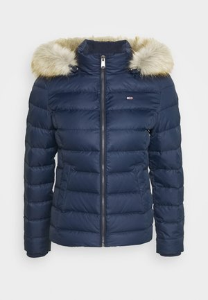 BASIC HOODED JACKET - Bunda z prachového peří - twilight navy