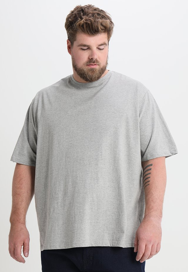 CAPSULE CREW NECK - T-shirt basic - grey marl