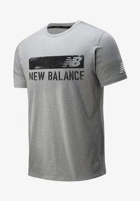 New Balance - GRAPHIC HEATHERTECH - Print T-shirt - athletic grey multi - 0