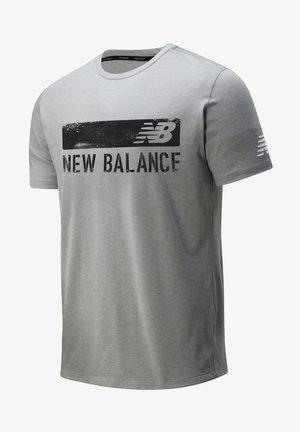 GRAPHIC HEATHERTECH - Print T-shirt - athletic grey multi