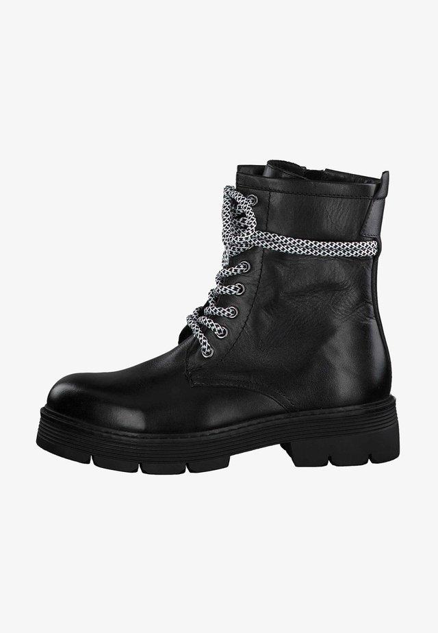 Kovbojské/motorkářské boty - black antic 002