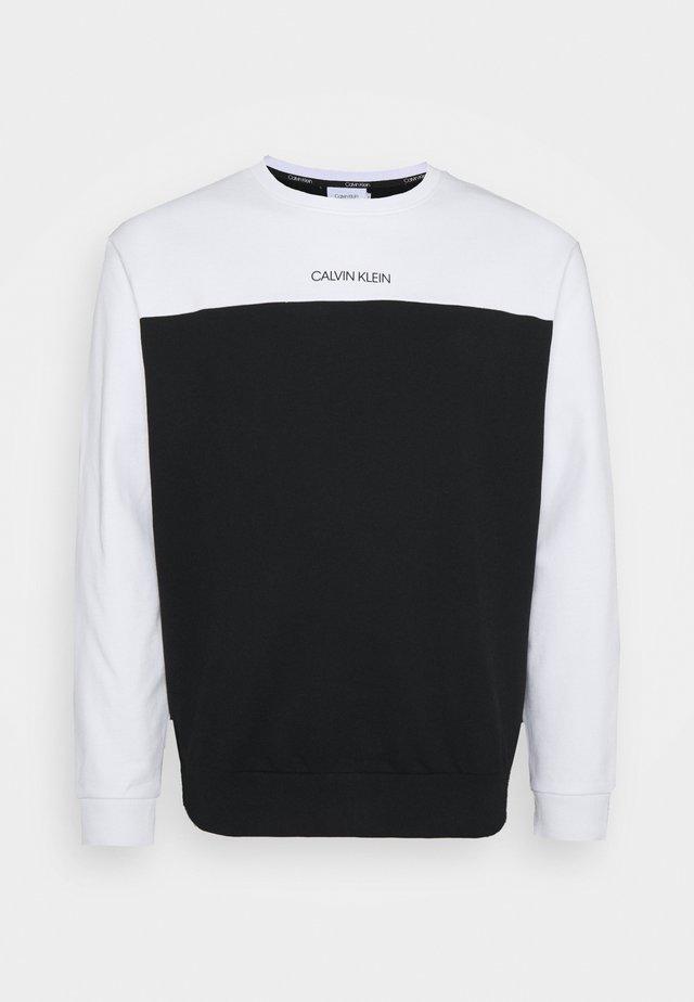 COLOR BLOCK - Sweatshirt - white