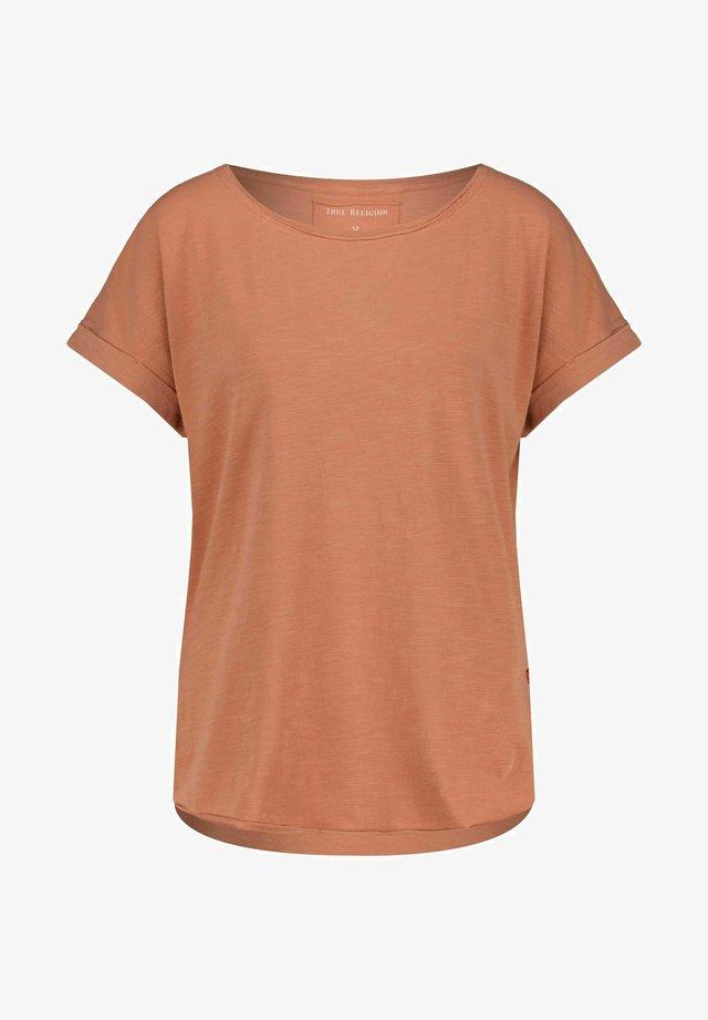 CREW NECK RELAX  - Basic T-shirt - braun