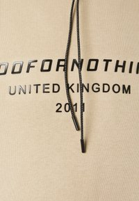 Good For Nothing - OVERSIZED INJECTION MOULD BRANDED HOOD UNISEX - Hoodie - beige - 2