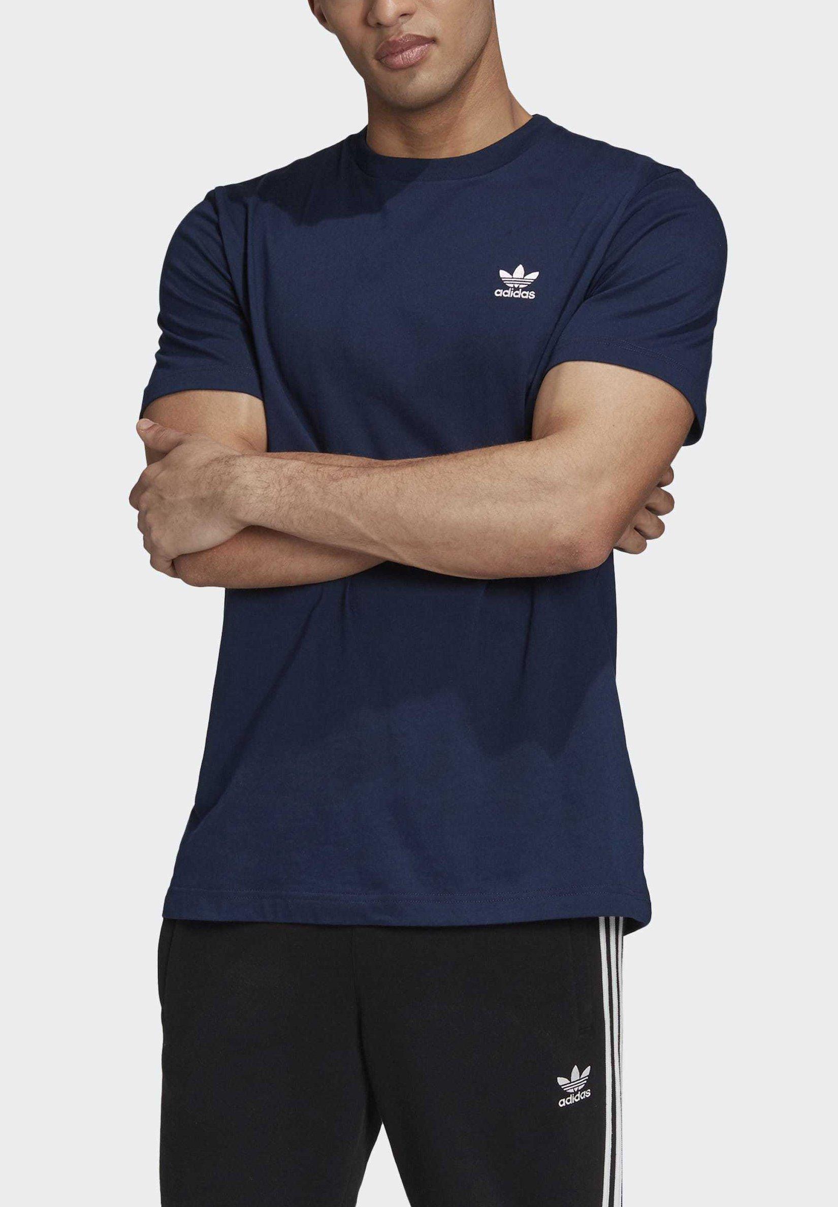 adidas Originals TREFOIL ESSENTIALS T-SHIRT - Basic T-shirt - blue temLJ
