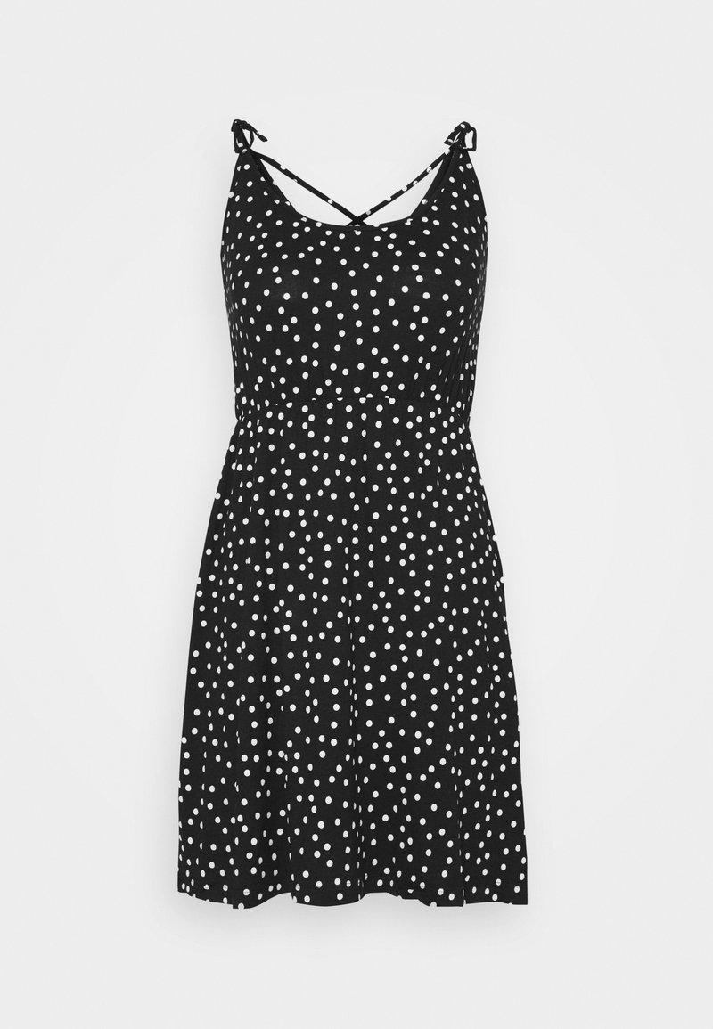 Even&Odd Jerseykleid - black/white/schwarz yKnyJY