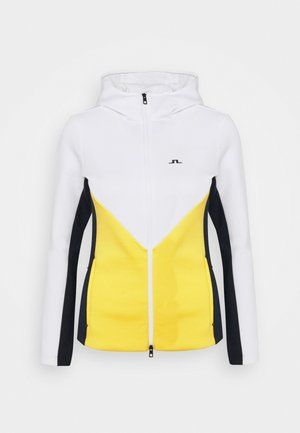 CRYSTAL CHEVRON HOOD - Zip-up hoodie - banging yellow