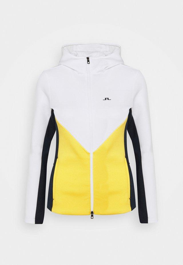 CRYSTAL CHEVRON HOOD - Zip-up hoodie - banging yellow