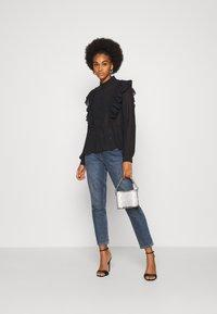 Vero Moda - VMIRIS FRILL  - Button-down blouse - black - 1