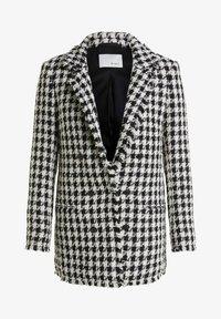 Short coat - black offwhite