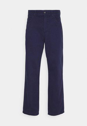 DRILL STRAIGHT LEG TROUSER - Pantalones - navy