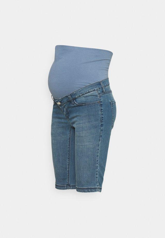 ELLENTON - Shorts di jeans - aged blue