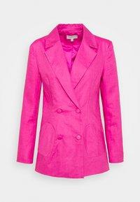 LINEN HEART POCKET - Blazer - pink