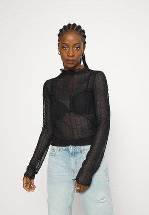 TYRA TOP - Long sleeved top - black
