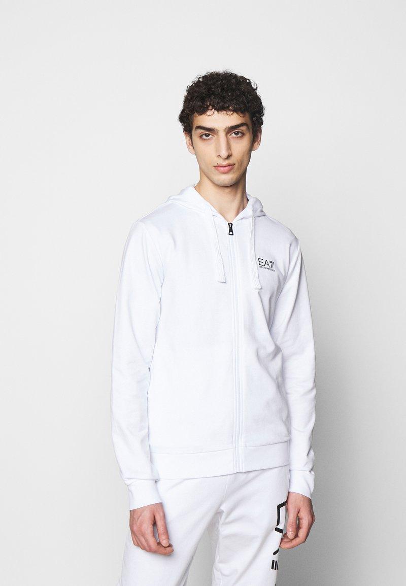 EA7 Emporio Armani - Zip-up hoodie - white