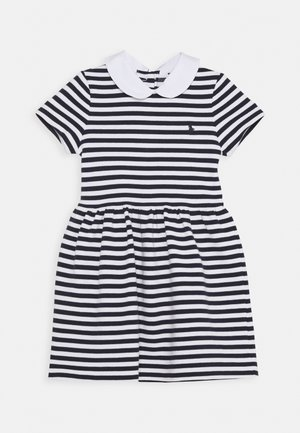STRIPE DRESS - Day dress - navy/white