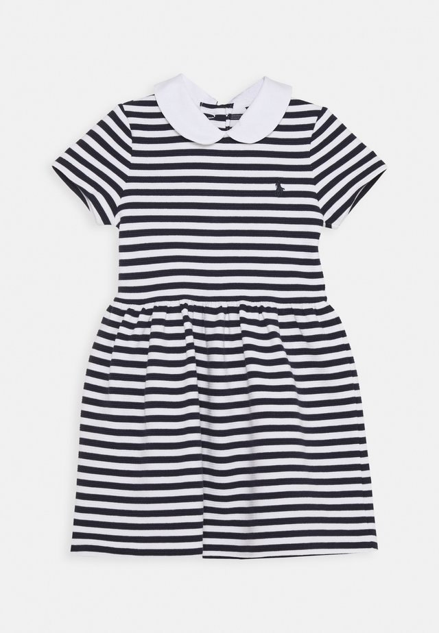 STRIPE DRESS - Robe d'été - navy/white