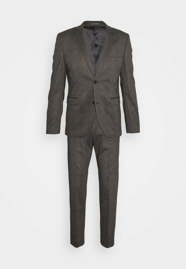 COMFORTCHECK - Suit - dark brown
