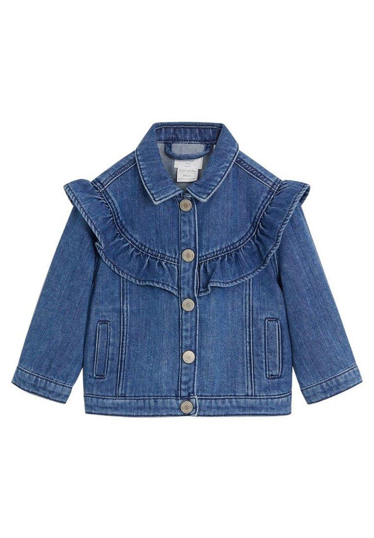 Giacca di Jeans Bimbi Ragazzi Denim Cappotto Giubbotto Ragazze Capispalla Blu Denim Manica Lunga Abbigliamento Primavera Autunno 12-24 Mesi