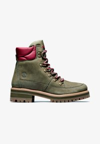 Timberland - COURMAYEUR F/L HIKER WP - Lace-up boots - olive nubuck - 0