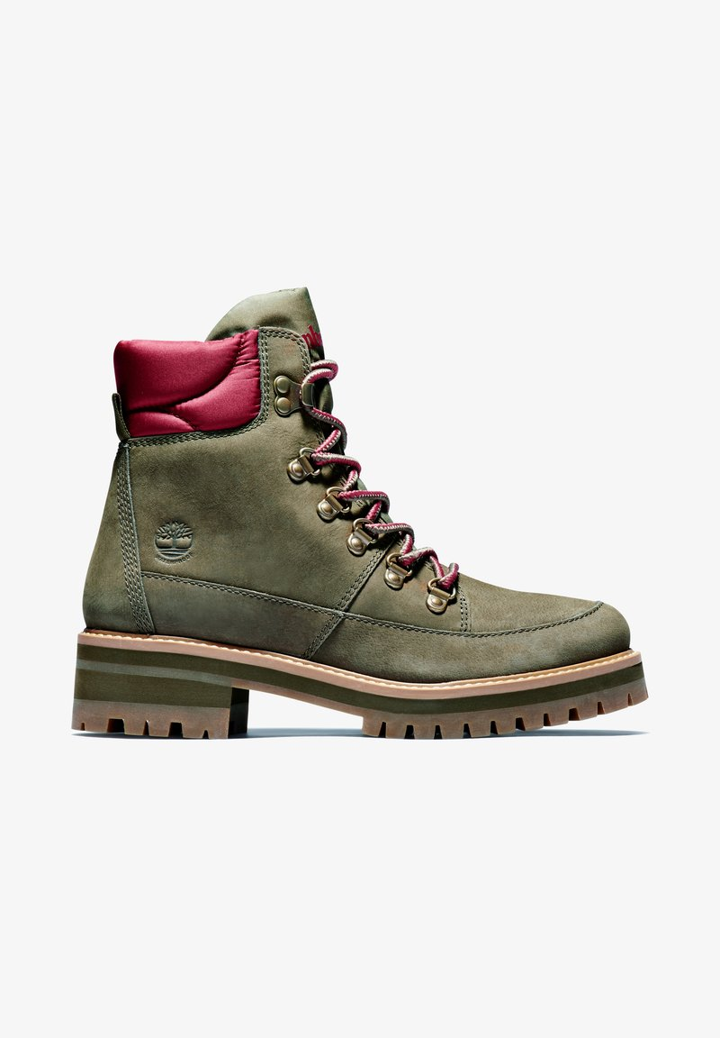 Timberland - COURMAYEUR F/L HIKER WP - Lace-up boots - olive nubuck