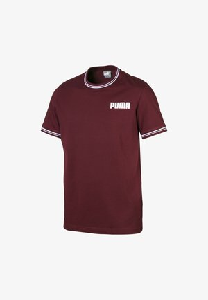 T-shirt con stampa - tawny port