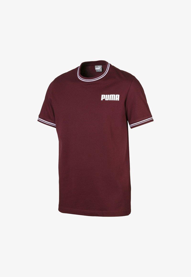 Puma - TEE MAND - T-shirt con stampa - tawny port