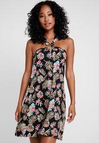 Even&Odd - Day dress - black/pink/blue - 0