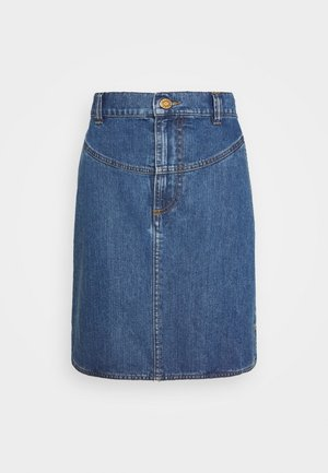 A-line skirt - deep denim