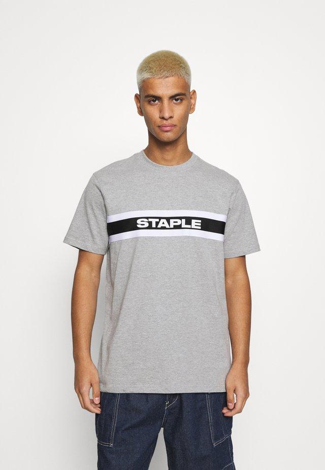 TAPE LOGO UNISEX - T-shirts med print - heather grey