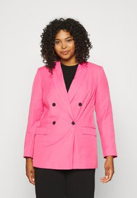 Simply Be - DOUBLE BREASTED BLAZER - Blazer - hot pink - 0