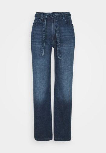 MED WIDE LEG - Jean flare - blue dark wash