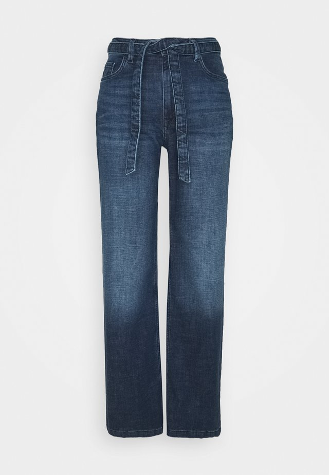 MED WIDE LEG - Jeans a zampa - blue dark wash