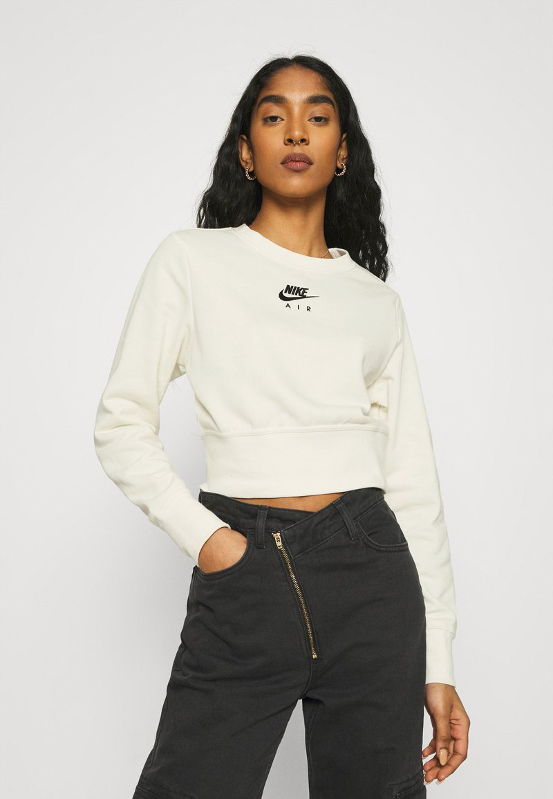 Nike Sportswear - AIR CREW  - Sweatshirt - coconut milk/black