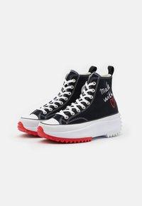 Converse - RUN STAR HIKE - High-top trainers - black/white/university red - 3
