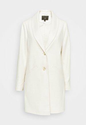MINIMAL SHAWL COAT - Classic coat - ivory